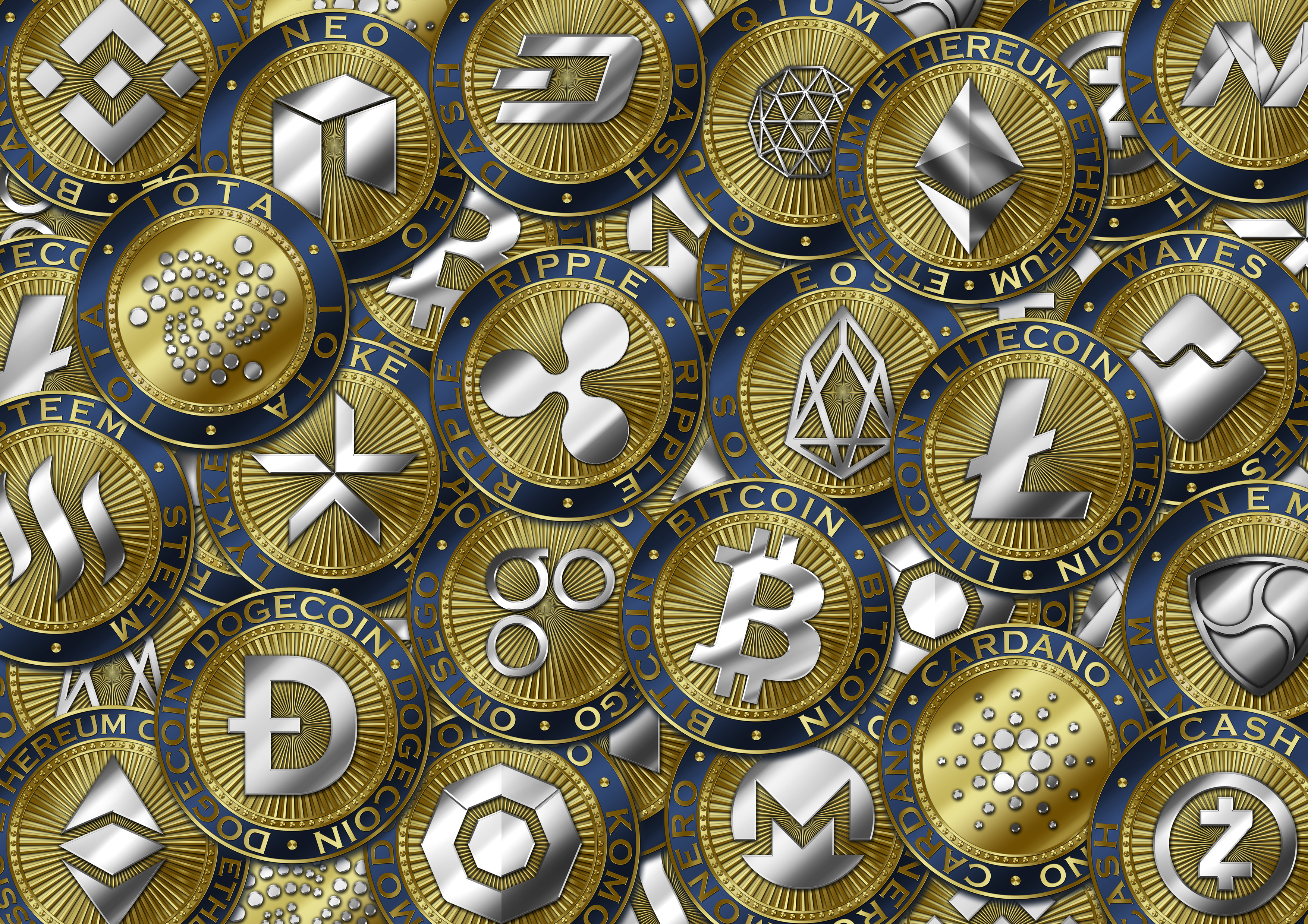 Cryptocurrency coin background